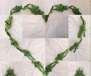 meme, heart, and kermit image