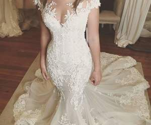 bride, fashion, and groom image