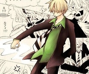 anime, blonde boy, and sanji image