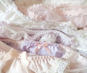 lingerie, panties, and pastel image