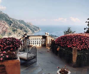 Amalfi, cities, and flowers image