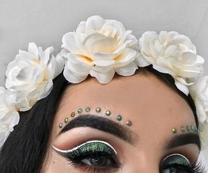 beauty, eye makeup, and eyebrows image