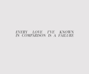 comparison, failure, and Lyrics image