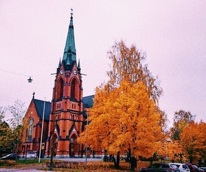 autumn, church, and cozy image