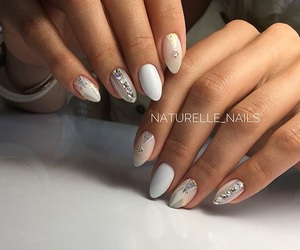 diamond, nails, and polished image