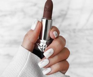 nails, lipstick, and makeup image
