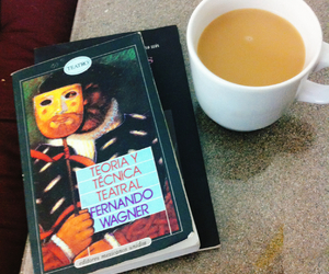 books, coffee, and morning image