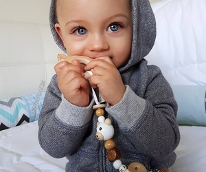 baby, blue, and eyes image