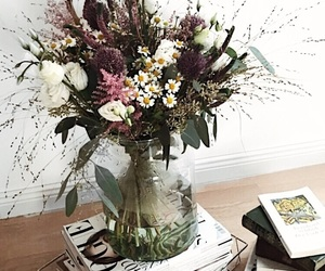 beautiful, books, and flower image