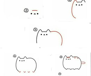 how to draw, pusheen, and cute image