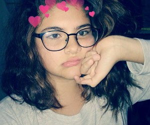 girl, glasses, and hair cut image