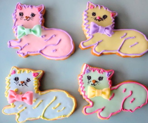 cat, Cookies, and pastel image