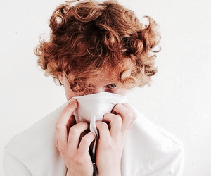 boy, curly, and white image
