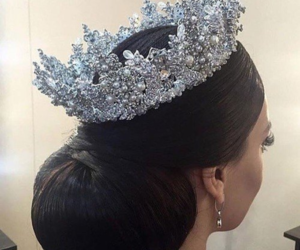 style, crown, and hair image