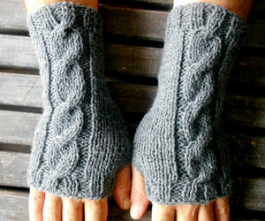 etsy, hand warmer, and crochet gloves image