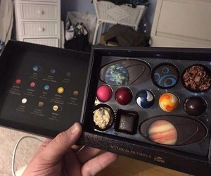 chocolate, planet, and space image