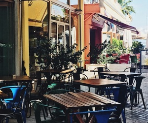 cafe, city, and Greece image