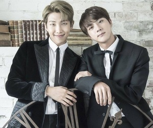bts, jin, and namjoon image