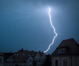 lightning, grunge, and sky image