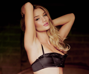 agent provocateur, bra, and rosie huntington whiteley image