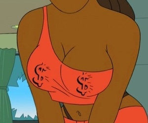 boobs, orange, and love image
