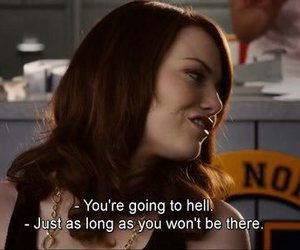 easy a, emma stone, and movie image