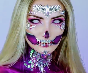 calavera, Halloween, and makeup image