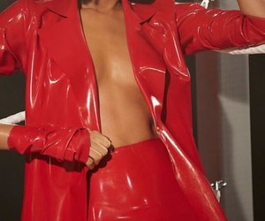 red, fashion, and clothes image