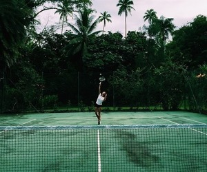 green, tennis, and girl image