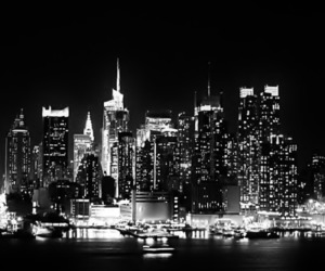 b&w, cities, and cityscape image