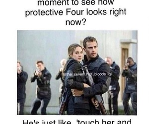 divergent, four, and fourtris image