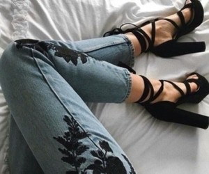 heels, pants, and shoes image