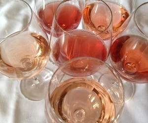 drink, wine, and pink image