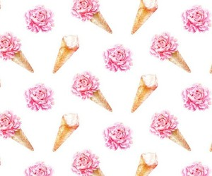 girly, ice cream, and pink image