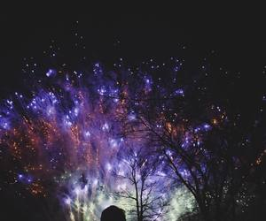 aesthetic, purple, and fireworks image