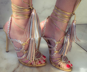 shoes, heels shoes, and strappy high heels image