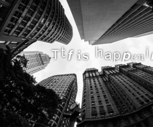black and white, buildings, and quotes image