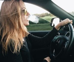 black, blonde, and car image