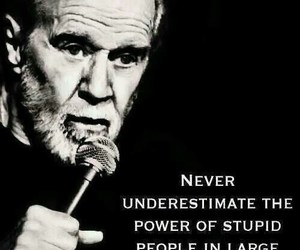 quotes, stupid, and george carlin image