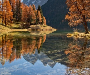 autumn, lake, and landscape image
