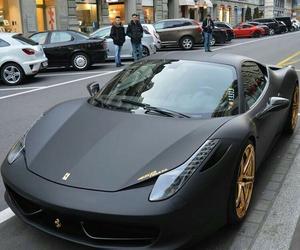 car, black, and ferrari image