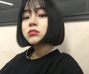 asia, short hair, and girl image