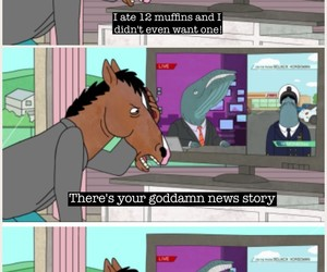muffins, bojack horseman, and quote image