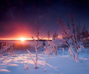 landscape, snow, and solstice image