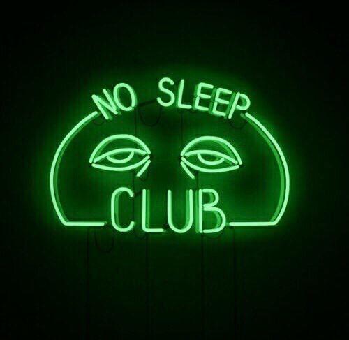 neon, sleep, and aesthetic image