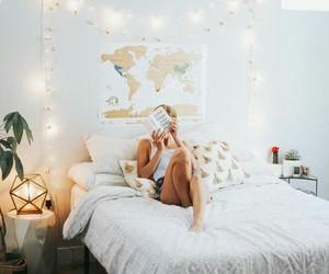 home, girl, and lights image