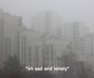 sad, lonely, and quotes image
