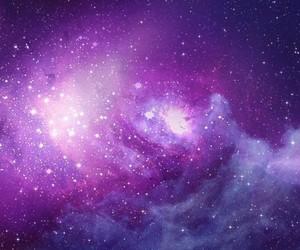 galaxy, purple, and stars image