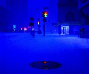 blue, new york, and night image