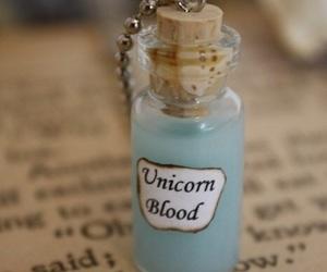 unicorn, blood, and blue image